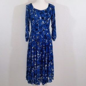 Coldwater Creek Fit & Flare Printed Dress #194